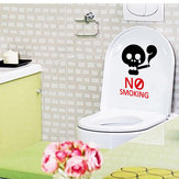 Original Honana BC-594 No Smoking Reminder Sign Removable PVC Toilet Seat Sticker Bathroom Wall Decoration