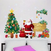Christmas Santa Claus Gift DIY Removable Wall Sticker Window Door Home Decoration
