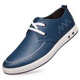 Men Lace Up Soft Leather Oxfords Soft Sole Formal Business Shoes