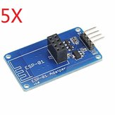 5Pcs Geekcreit® ESP8266 Serial Wi-Fi Wireless ESP-01 Adapter Module 3.3V 5V Compatible For Arduino