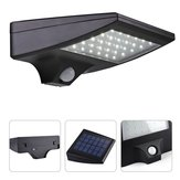 30 LED Solar PIR Motion Sensor Light Waterproof Outdoor Pathway Balcony Porch Wall Lamp