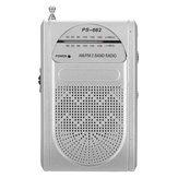 PS-662 Slim Portable AM/FM 88-108MHz Telescopic Antenna World Receiver Pocket Radio