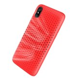 Original Disipación de calor Rock Mesh Soft TPU Caso para iPhone X