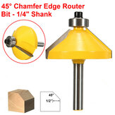 1/4 Inch Shank 45 Degree Chamfer Edge Forming Router Bit Woodworking Tool