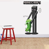 Original MineCraft Game 3D Enderman Catch Baby Creeper DIY Home Decal Decor Wall Mural Decoration Sticker