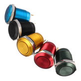 5A/16V 12mm 2Pin Button Switch Stainless Steel Momentary Push Button Switch Flat Top 5 Color