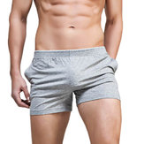 SUPERBODY Mens Casual Solid Color Breathable Low Waist Pajamas Boxers Leisure Fitness Arrow Shorts