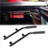Black Metal Rear Seat Car Roll Bar Grab Handle for Jeep Wrangler JK 07-16