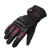 Motorcycle Touch Screen Gloves Winter Waterproof RacingFor Pro-biker MTV08 M-XXL Black Blue Red
