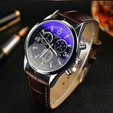 Original YAZOLE 271 Men Watch Fashion Style Leather Strap Quartz Wrist Watch