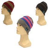 Motorcycle Warm Knitting Hat Music Cap Headset Ecouteur Mic with Bluetooth Function