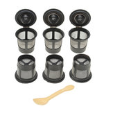 Original 6Pcs Black Solo Coffee Pod Filters Reusable Single Coffee Filter Cup Funnel for Coffee Machine