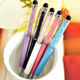 1 Pcs Crystal Imitated Diamond Capacitive Screen 2 in 1 Touch Writting Bling School Office Stationery Ballpen