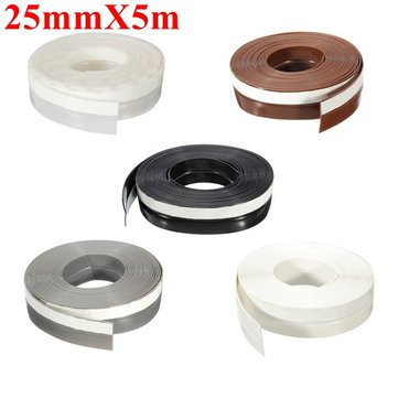 25mmX5m Window Door Silicone Rubber Sealing Sticker Seal Strip 3M Adhesive