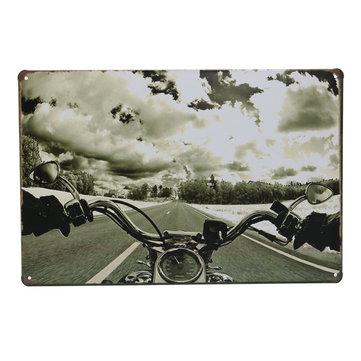 الطريق دراجة نارية تين تسجيل خمر المعادن اللوحة بار حانة جدار ديكور