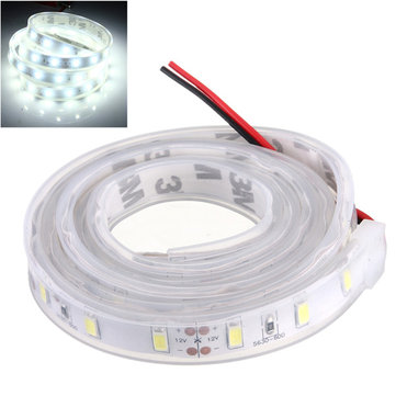 Buy 1M 5630 SMD LED Silicone Strip Light Cool White Waterproof 12V for $4.39 in Banggood store