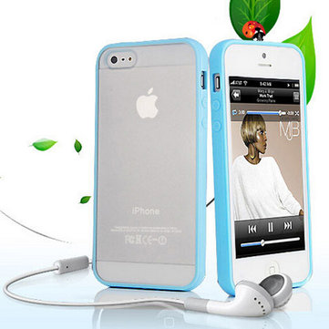 Frosted TPU PC Transparent Back Cover Case For iPhone 5C