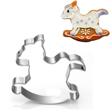 Stainless Animal Horse Cookie Cutter Cake Candy Pastry Baking Mold DIY Tool
