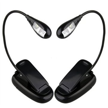 Flexible Arm LED Clip Camping Light On Bed Book Reading Desk Lamp
