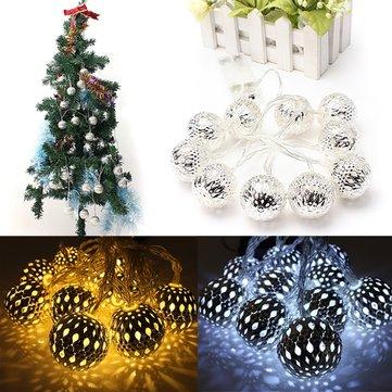 Батарейках 1.2m 10 LED мяч строка гирлянды Рождество декор