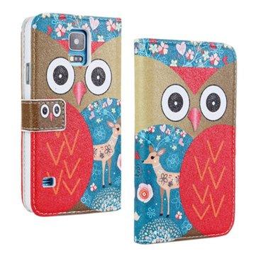 Gufo filp pu custodia in pelle protettiva per smartphone i9600 di Samsung s5