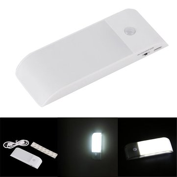 Mini Ultra Thin USB Rechargeable PIR Motion Sensor LED Night Light for Clost Wardrobe Cabinet