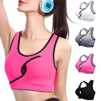 ผู้หญิงเซ็กซี่ขนาดเล็ก Key-hole Front Top ทนต่อแรงกระแทกไร้สาย Breathable Sport Yoga Bras