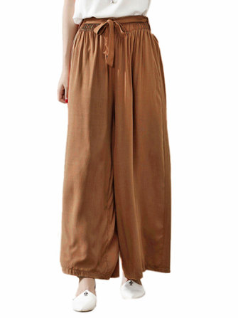 O-NEWE Casual Women Loose Wide Legs Trousers Pants