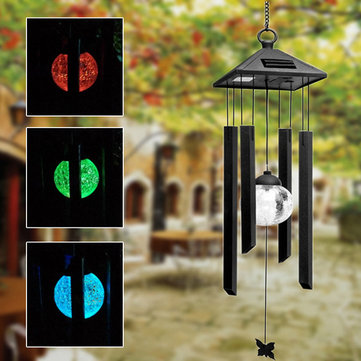 Solaire puissance carillon de vent color led cour lampe for Decoration jardin colore