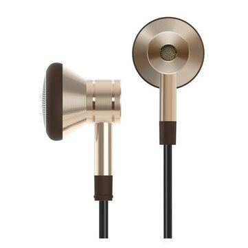 Buy XiaoMi Design 1MORE Piston 3.5mm In-Ear Metal Super Bass Headset Earphone Headphone With Mic for $23.00 in Banggood store