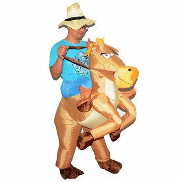 CowboyPaardOpblaasbaarKostuumCarnavalfeestFancy Dierenkleding Voor Volwassenen Gratis Verzending