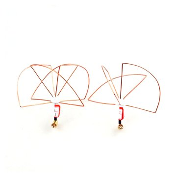 1.2G 1dBi LHCP/RHCP 3-Leaf 4-Leaf Clover Antenna Right Angle Connector For TX RX FPV RC Drone
