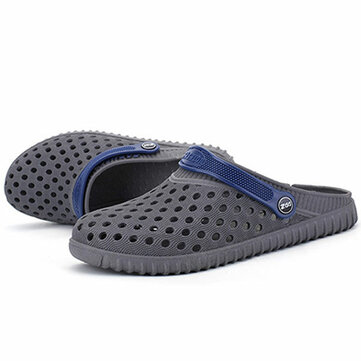 Mannen Hollow Out Beach Casual Slippers Sandalen In Mesh