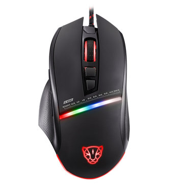 Buy Motospeed V10 4000DPI Matte Surface USB Wired LED Backlit Optical Gaming Mouse for $19.75 in Banggood store
