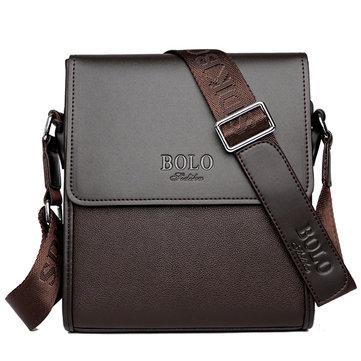 Mannen Zakelijke Schoudertas Casual Messenger Bag Zwart Bruine Crossbody Bag