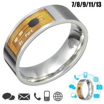 7/8/9/11/13 Size NFC Tag Smart Magic Finger Ring for Samsung Android Phone