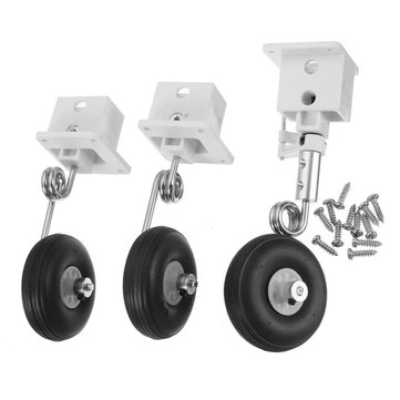 Landing Gear Fixed Base With Steel Wire & Wheel For RC Airplane