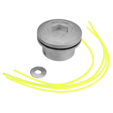 Aluminum Grass Trimmer Head with 4 Nylon Lines Brush Cutter Head for Strimmer Replacement