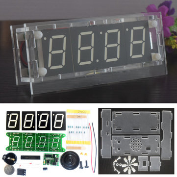 DS3231 Voice Timing Music Light Control DIY Digital Electronic Alarm Clock Kit With Temperature Countdown Stopwatch Function