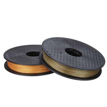 Bronze/Golden 1.75mm 0.5kg/1.1lb PLA Flexible Filament For 3D Printer RepRap