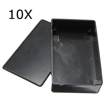 10pcs plastica nera scatola elettronica custodia dello strumento 100x60x25mm