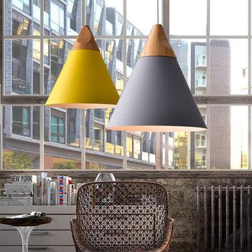 E27 único diâmetro da cabeça 25 centímetros criativo bar sala de jantar café pingente luminária de teto pendurado