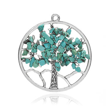 Vintage Multicolor Tree of Life Vintage Pendant Necklace