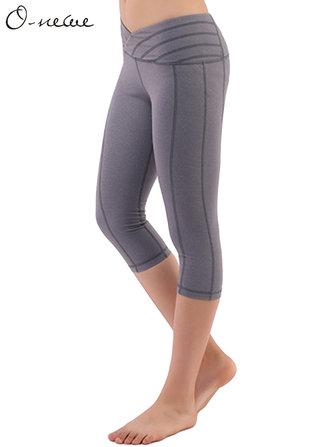 O-NEWE  S-5XL Casual Women Slim Stretch Sport Yoga Cropped Pants