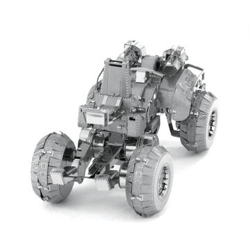 Aipin DIY 3D Puzzle RVS Gemonteerd Model Wheel UNSC Combat Vehicle For Kids Gift
