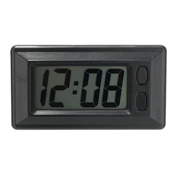 horloge de tableau de bord de voiture ultra mince de lcd de v hicule num rique avec l 39 affichage. Black Bedroom Furniture Sets. Home Design Ideas