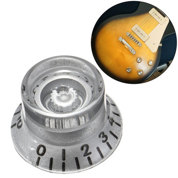 1PC Silver Plastic Electric Guitar Volume Voice Speed ​​Knoppen Voor Les Paul gitaar