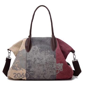 Vintage Large Capacity Women Canvas Casual Hobos Bag Ladies Crossbody Bags Ruched Solid Handbag