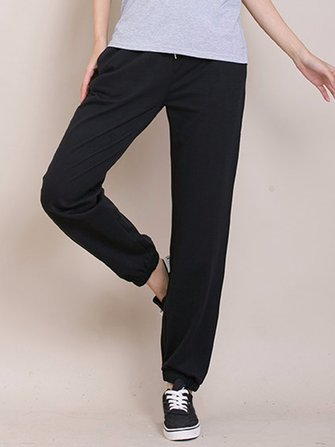 Casual Sport Solid Loose Women Wide leg Trousers Sweatpants
