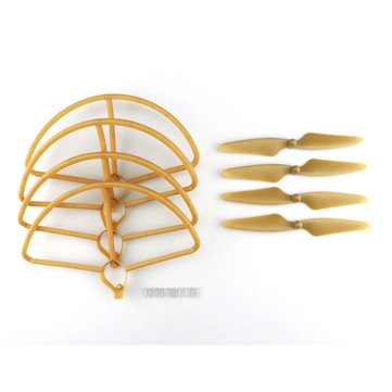 Hubsan H501S H501C RC Quadcopter Sapre Parts Gold CW/CCW Propellers & Protection Cover Set